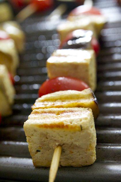 Saté met sinaas-mosterd-tijm en lookmarinade