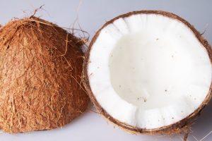 Kokosnoot open helft