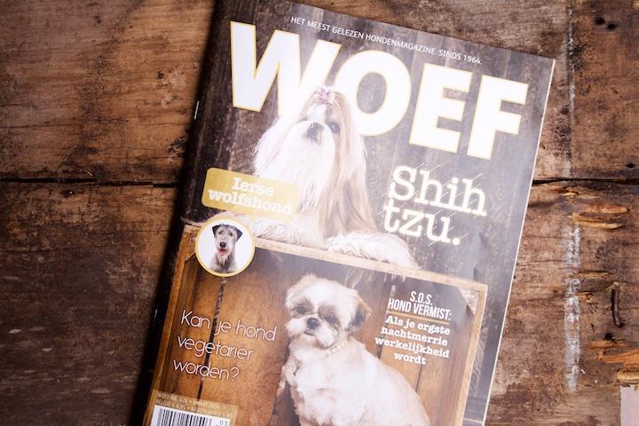 Cover Woef maart 2016 over vegetarische honden