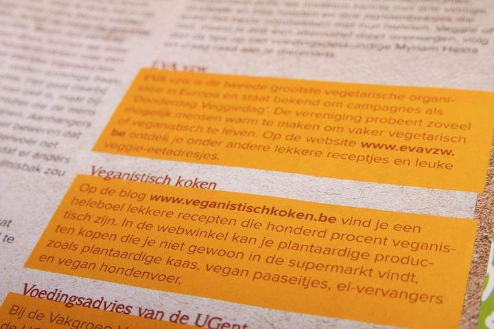 Veganistischkoken.be in het magazine Woef