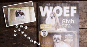 Snoopy in het magazine Woef over vegetarische honden