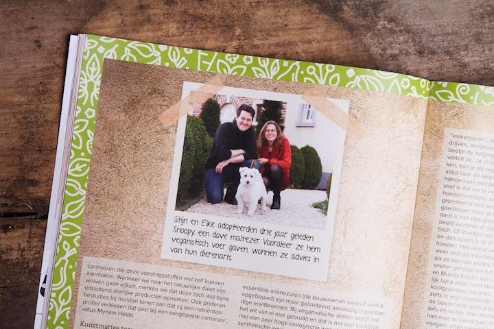 veganistisch koken met Snoopy in Woef magazine