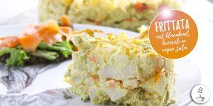 Frittata met bloemkool, broccoli en carrot lox - vegan recept