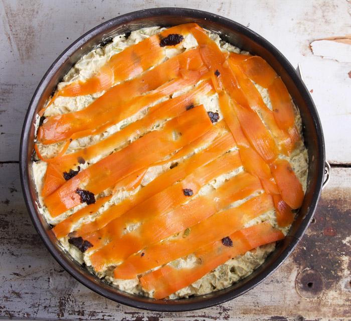 vegan frittata recept met carrot lox (wortel), broccoli en bloemkool
