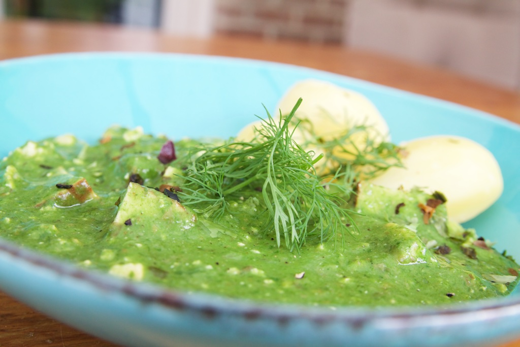 Tofu in het groen