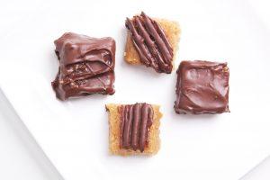Chocolade pindasnoepjes
