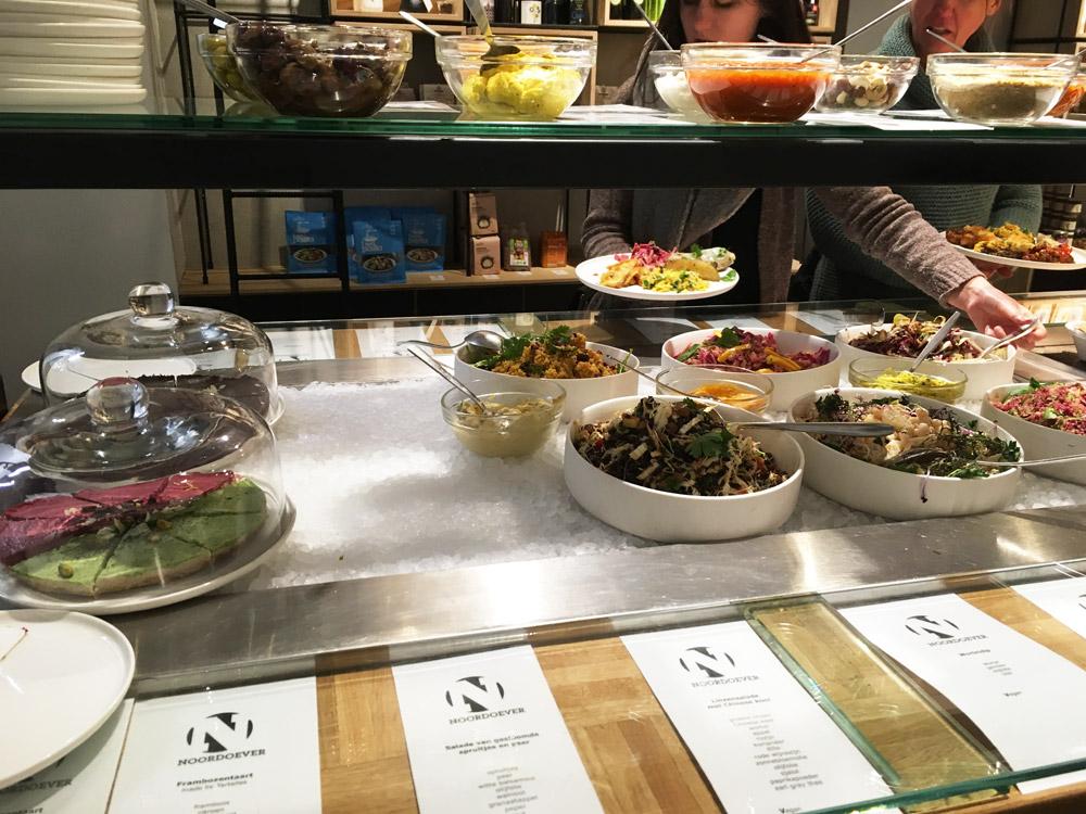 vegetarisch buffet bij Noordoever