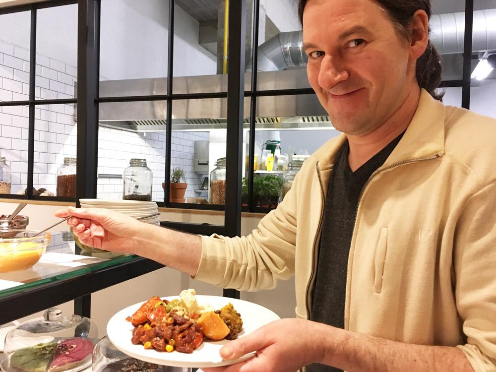 vegetarisch buffet bij Noordoever Leuven