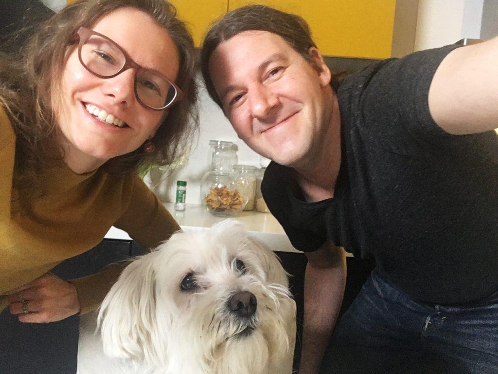 Stijn, Elke en Snoopy van veganistisch koken