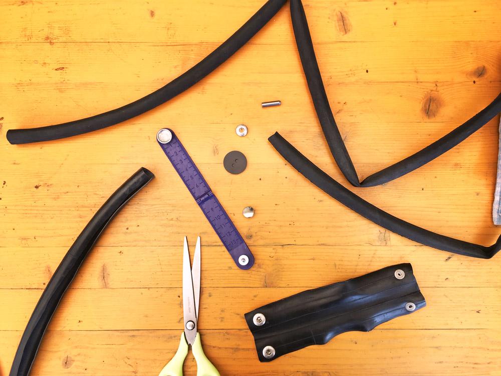 armband maken van de binnenband van een fiets
