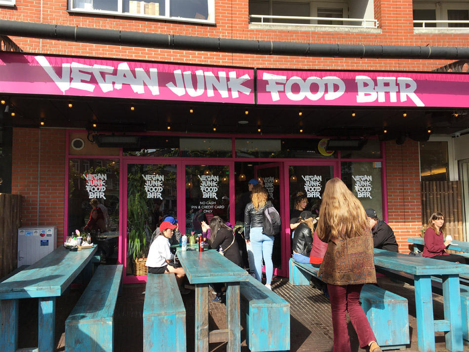 Vegan Junk Food Bar in Amsterdam