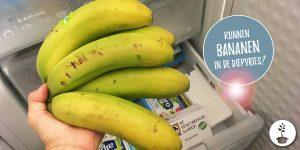 Kunnen bananen in de diepvries?