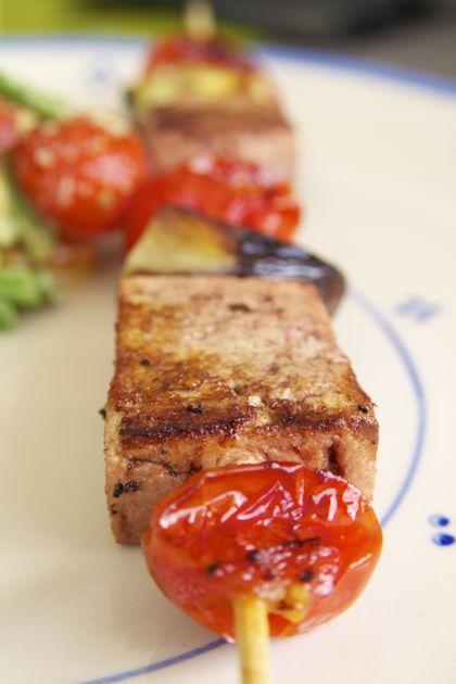 Gegrilde saté's met marinade