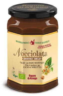 Nocciolata zonder melk - biologische en vegan choco