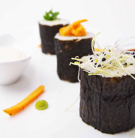 Sojasaus bij sushi