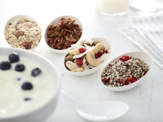Toppings van He-Be voor een gezond ontbijt