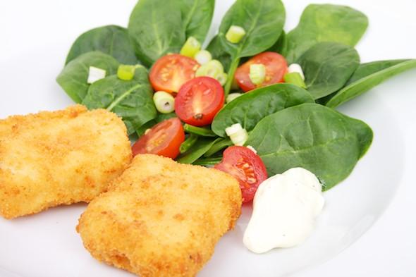 Vegan Kaaskroketten met salade