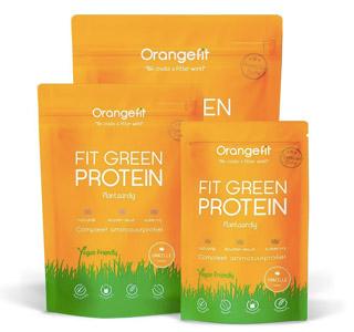 Orangefit - fit green protein - vegan eiwitpoeder