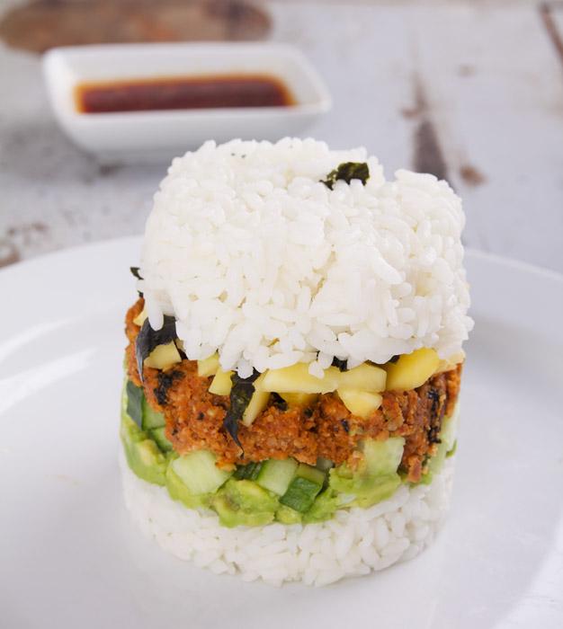 Sushiburger uit Vegan Vibes boek