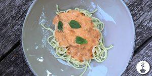 Vegan paprikaroomsaus recept met gegrilde paprika
