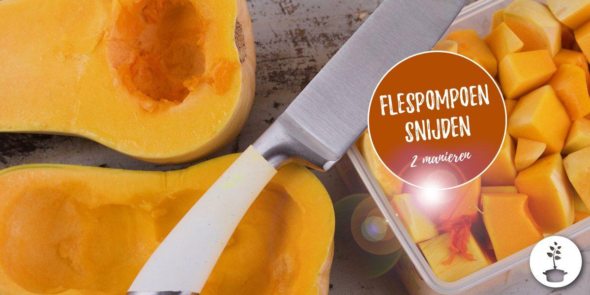 Flespompoen schillen en snijden