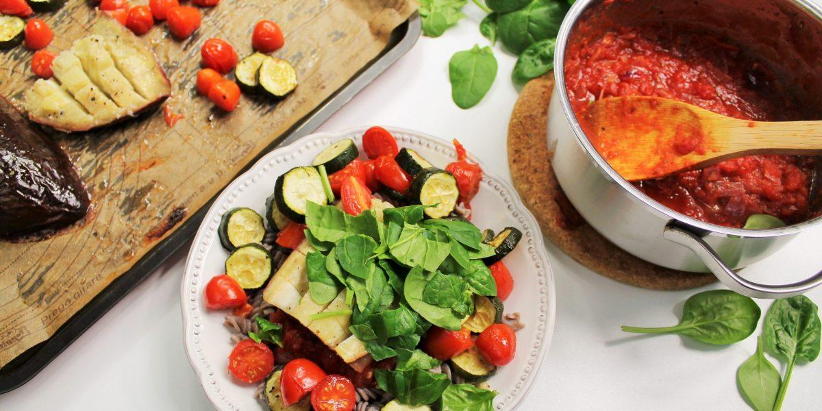 gegrilde-auberginepasta-vegan