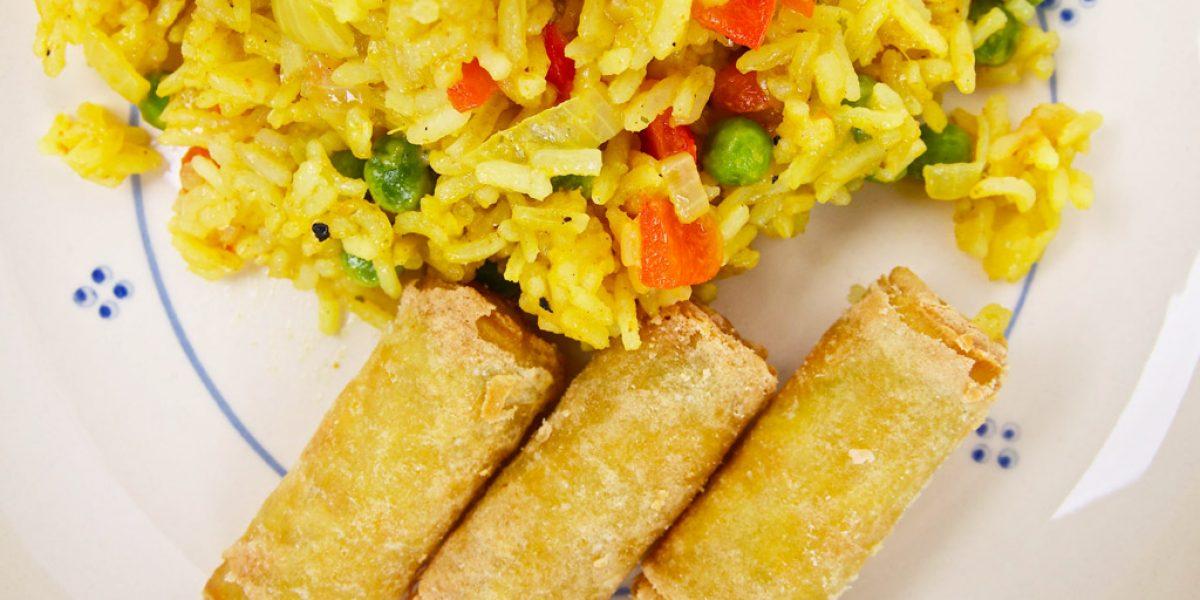 Pittige rijstschotel vegetarisch