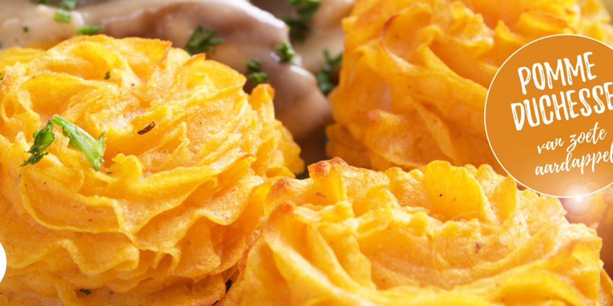 Pomme duchesse van zoete aardappel