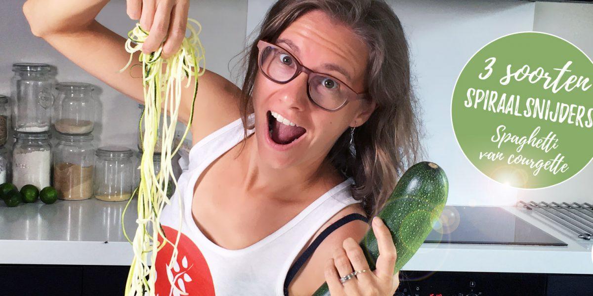 spiraalsnijder - welke verschillende soorten en spaghetti maken van courgette